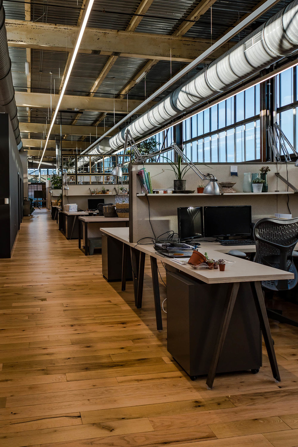Terrain workspaces, designed in collaboration with NewStudio Architecture, for the Navy Yard Building 18 Annex