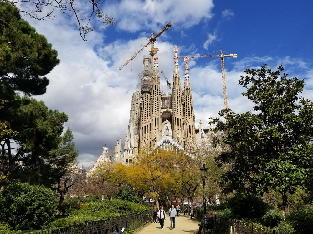 Sagrada Familia,  Antoni Gaudí's best known and final project. Begun in 1882 and projected to be completed in 2026.