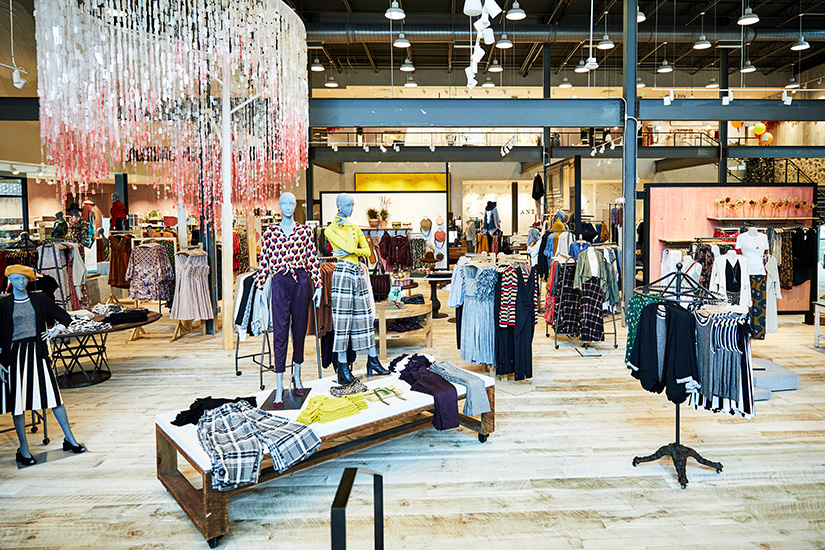 Interior of Anthropologie store at Devon Yard, designed by NewStudio Architecture