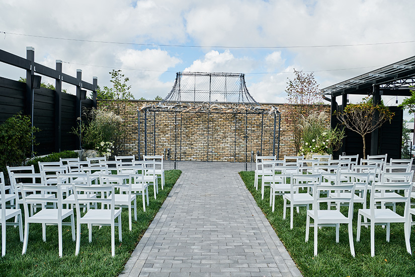 Outdoor wedding space at Devon Yard, designed by NewStudio Architecture