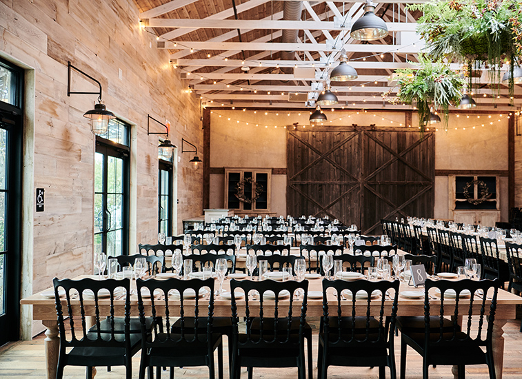 Interior of Devon Yard events space that accommodates up to 150 guests