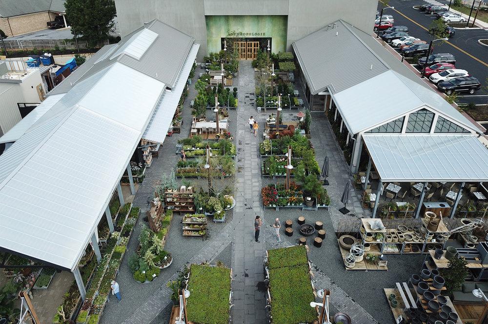 Aerial view of Devon Yard lifestyle center.