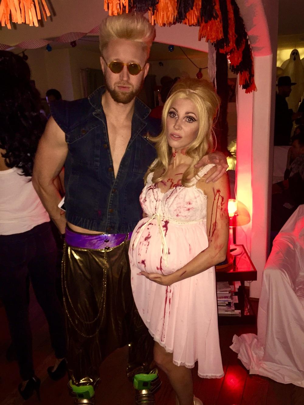 Jon Asher and Bonnie McKee at Bonnie's Halloween extravaganza!