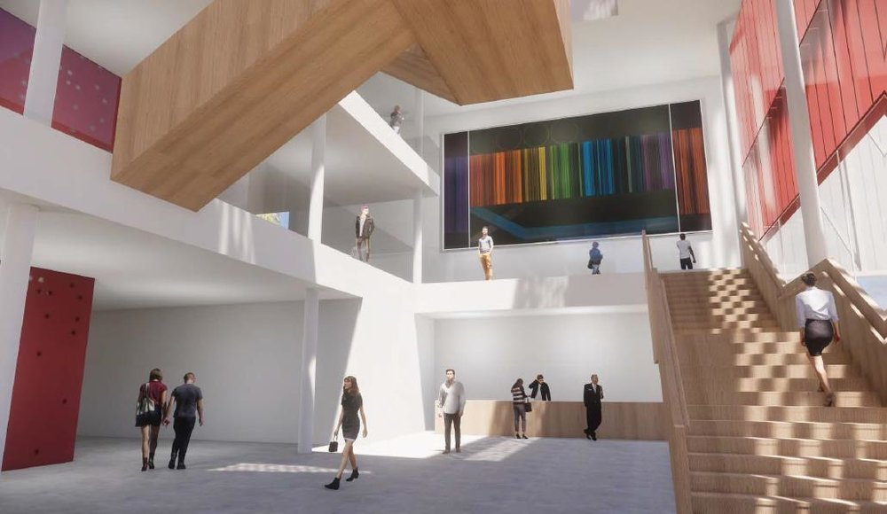 The foyer of the Waikato Regional Theatre will feature Ralph Hotere's mural from the Founders Theatre.
