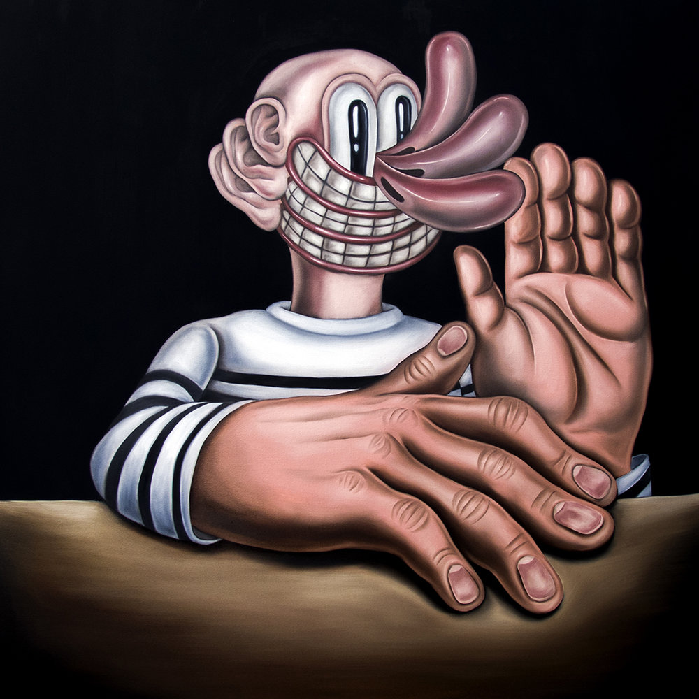 Loneliest Stranger  48x48, Oil on Canvas 2018