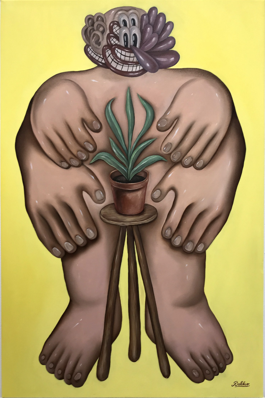 The Gardener(The Planter)  24x36, Oil on Canvas 2018