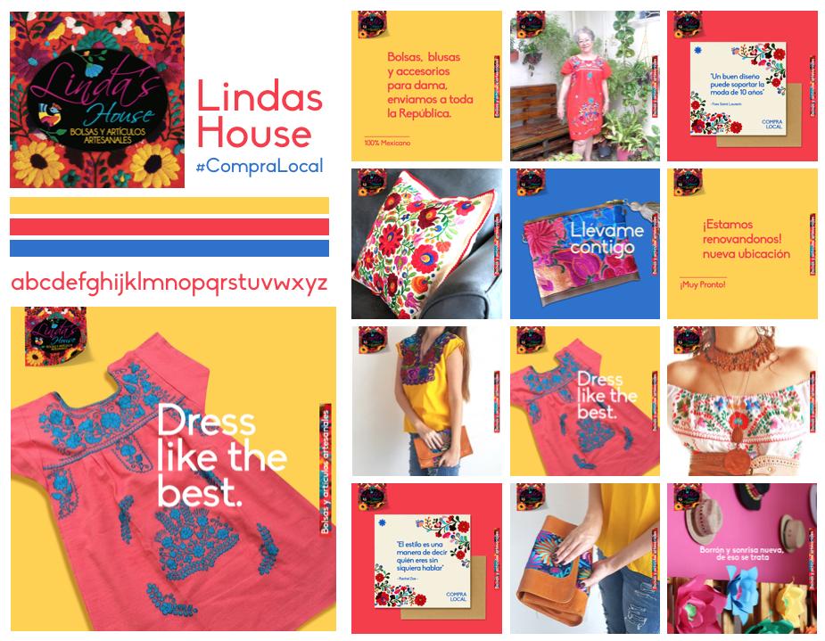 Linda's House, boutique 100% mexicana, bolsas, blusas y accesorios. #CompraLocal
