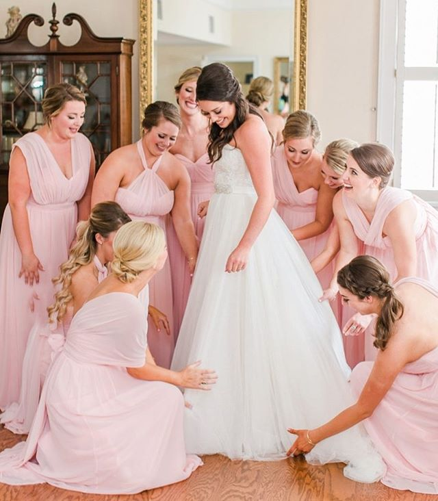 There's nothing like having your sisters & friends with you to support and love on you on your wedding day... and, well, everyday! Let's be strong and lift each other up. Encourage your sisters to be their best, grow each day and know their worth!