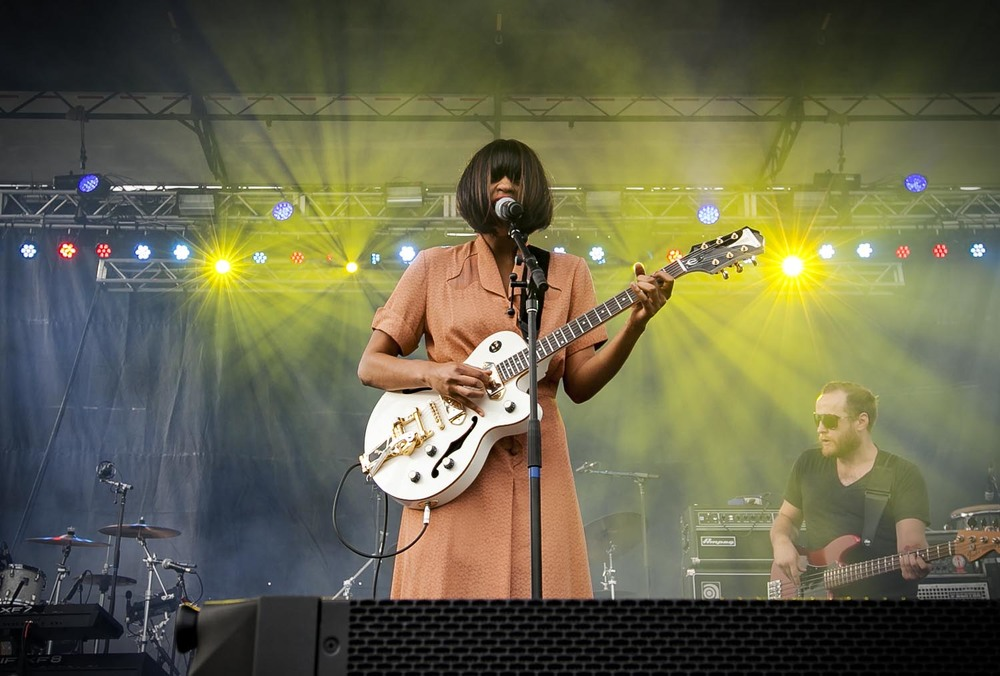Nashville-based blues/rock performer, Adia Victoria, performs on the Revival Stage. Photo credit: Maverick Visuals.