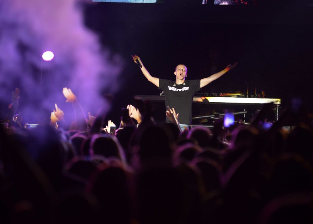 Hip-hop artist Logic headlining Friday night at Thrival Music.