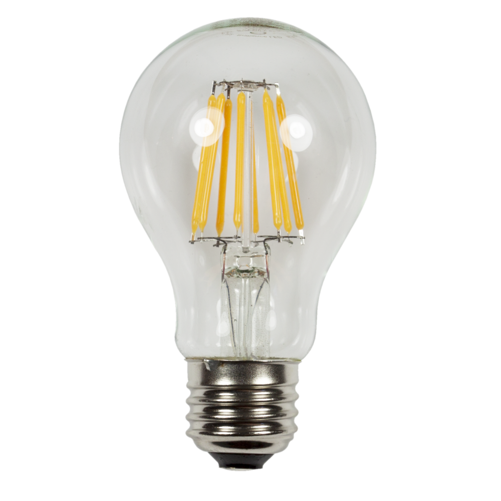 A19 EDGE Filament  Wattage: 6.5 Lumens: 500
