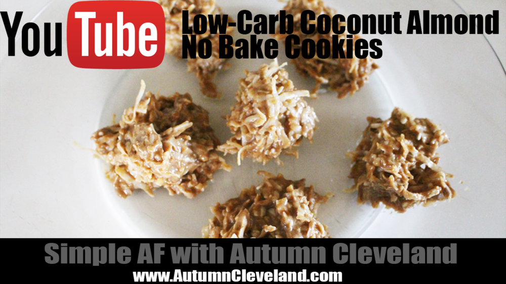 Low-Carb Coconut Almond No Bake Cookies