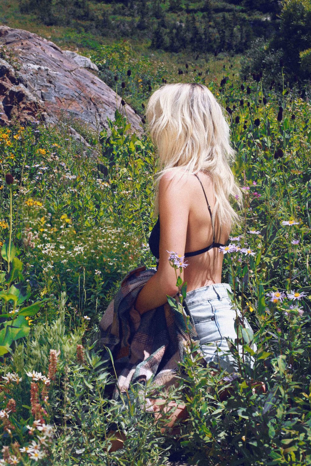 FLOWER FIELDS OF UTAH - Fashion Photo Shoot Story shot in Albion Basin SLC by Alyssa Risley - IG @alyssarisley