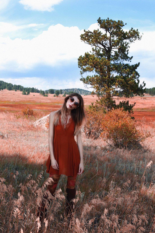 SAVANA IN EVERGREEN - Fashion Editorial Story shot in Colorado by Alyssa Risley - IG @alyssarisley ORANGE MOUNTAIN