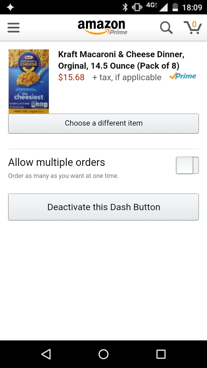 Multiple-item ordering is off by default, preventing over-ordering.