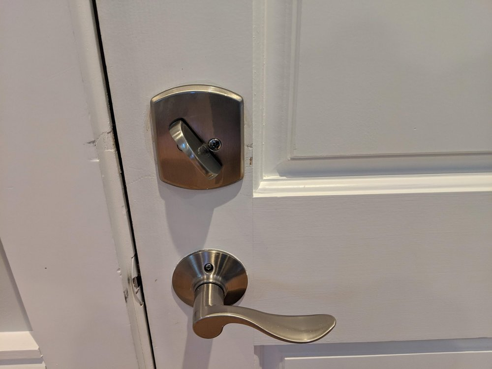 New lock.
