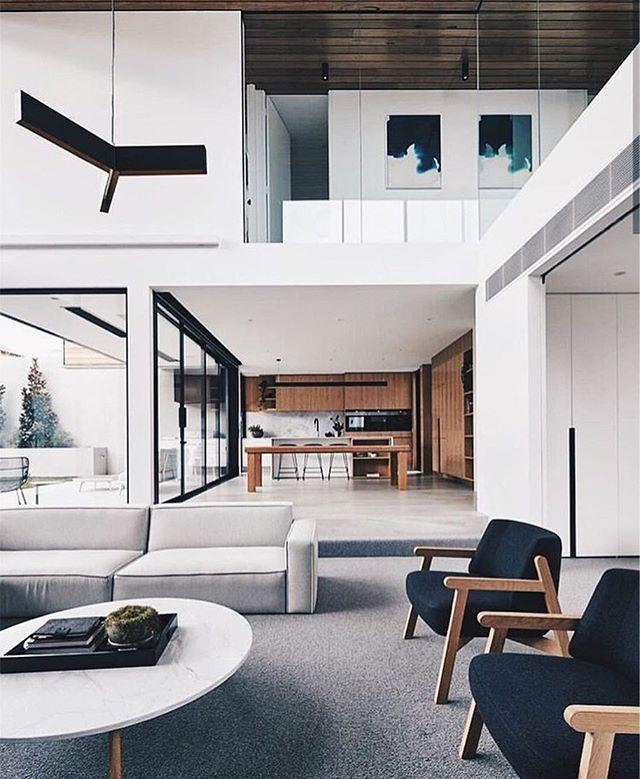 Monday Vibes 💭 . . . . #interiordesign #instagood #livingroomdecor #livingroom #livingroominspo #blackandwhite #openconcept #openconceptliving #kitchendesign #design #formwest #formwestinteriors