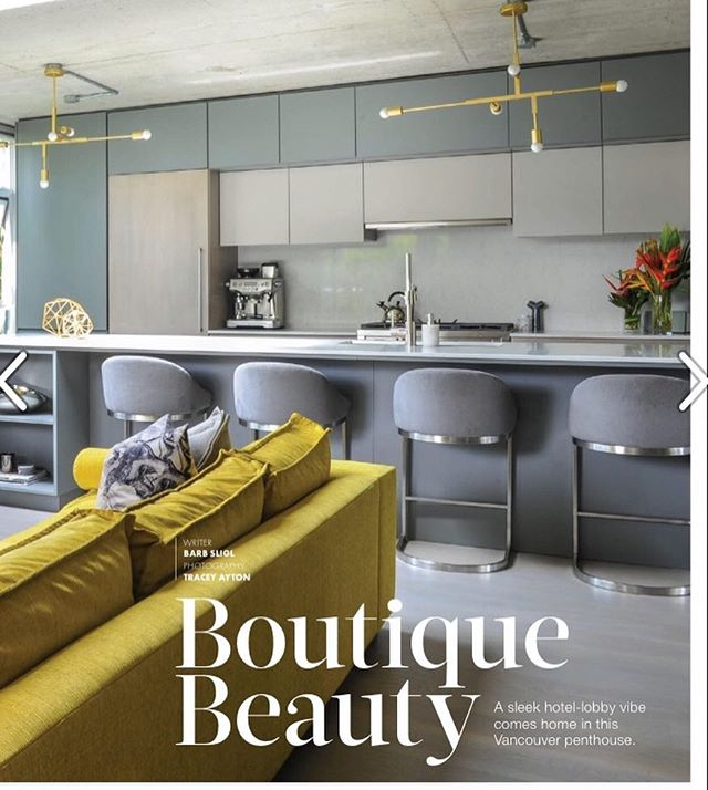 Thrilled to be featured in @westernliving Condo Winter 2018 Issue! So grateful for my sensational client and everyone who contributed to making this a success 🙌🏼❤️😊 Link in Bio for full article!  #formwest #westernliving #interiordesign #boutiquebeauty #penthousedesign #interiors #hotellobbyvibe