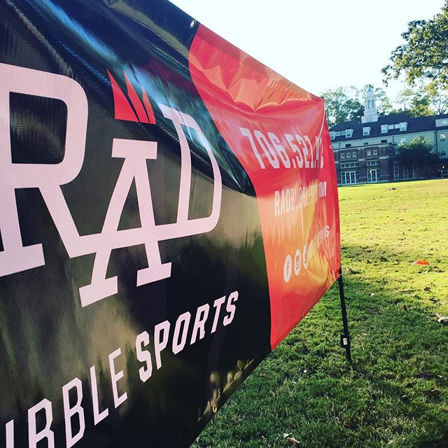 Hello #MyersQuad - FREE OPEN PLAY RIGHT NOW @radbubblesports @ugaathletics #thehypeisreal #radbubblesports #bubblesoccer