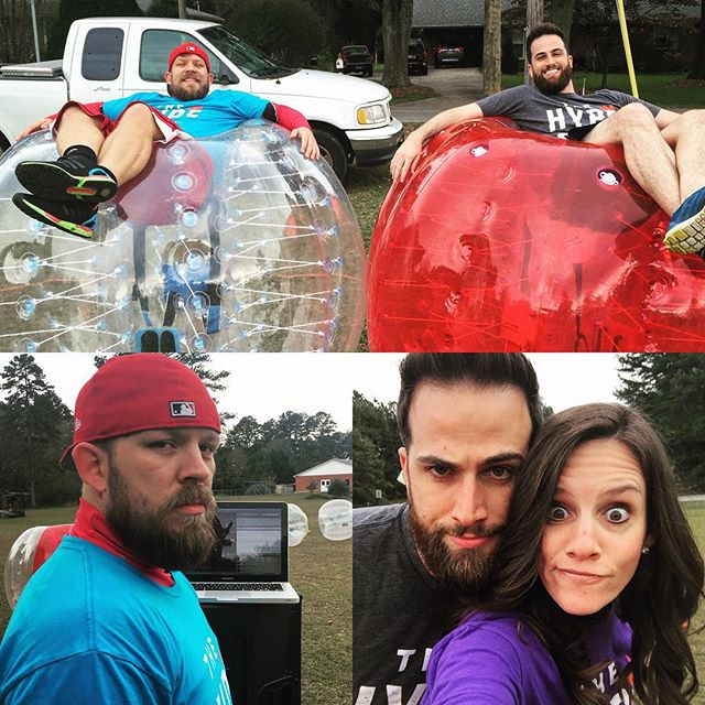 We ready fah y'all @ugawesleymusic #radbubblesports #thehypeisreal #bubblesoccer #bubblesports