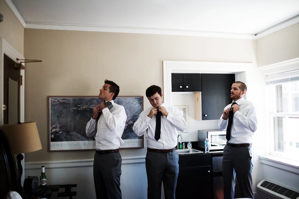 groomsmen getting ready hotel 340