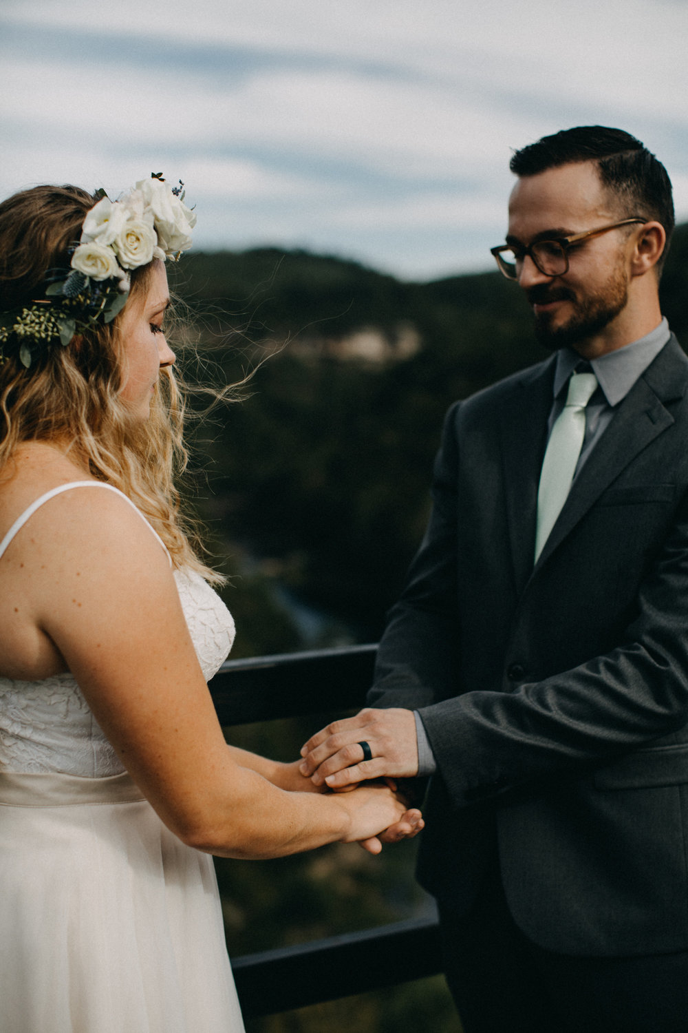 haley + Jared - Intimate Ceremony at Lilly Bluff Overlook in Obed National Park