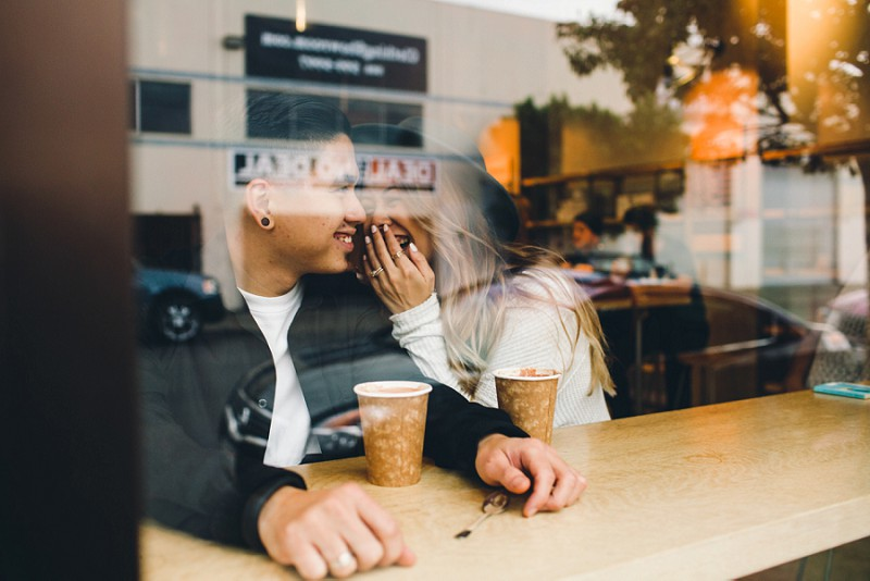 Urth Cafe Blue Bottle Coffee Engagement Session