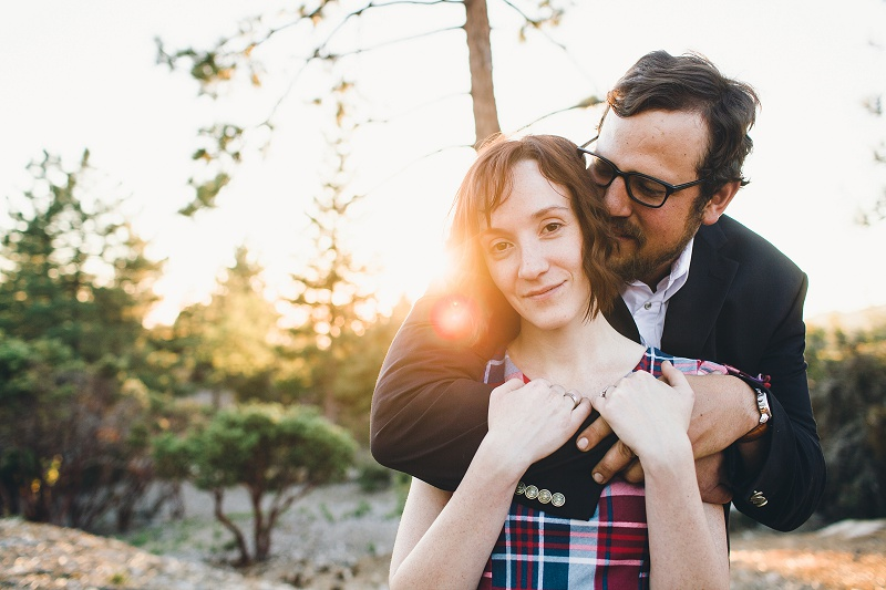 camping engagement session Idyllwild