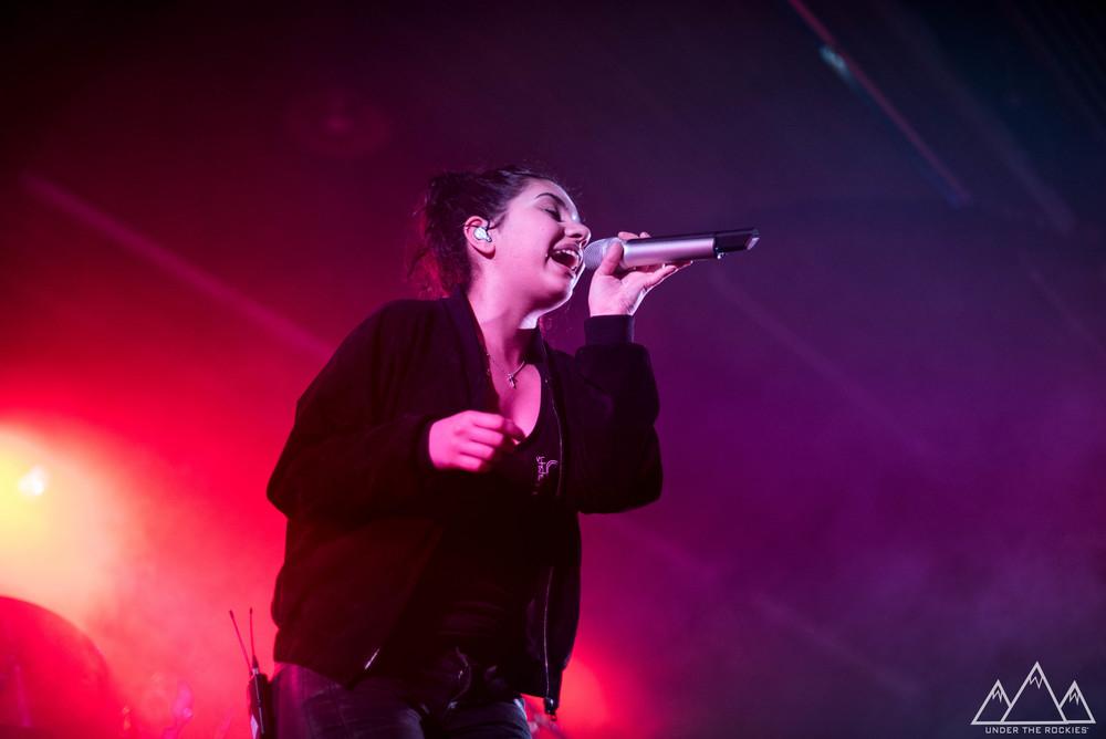 Alessia Cara performing at MacEwan Ballroom