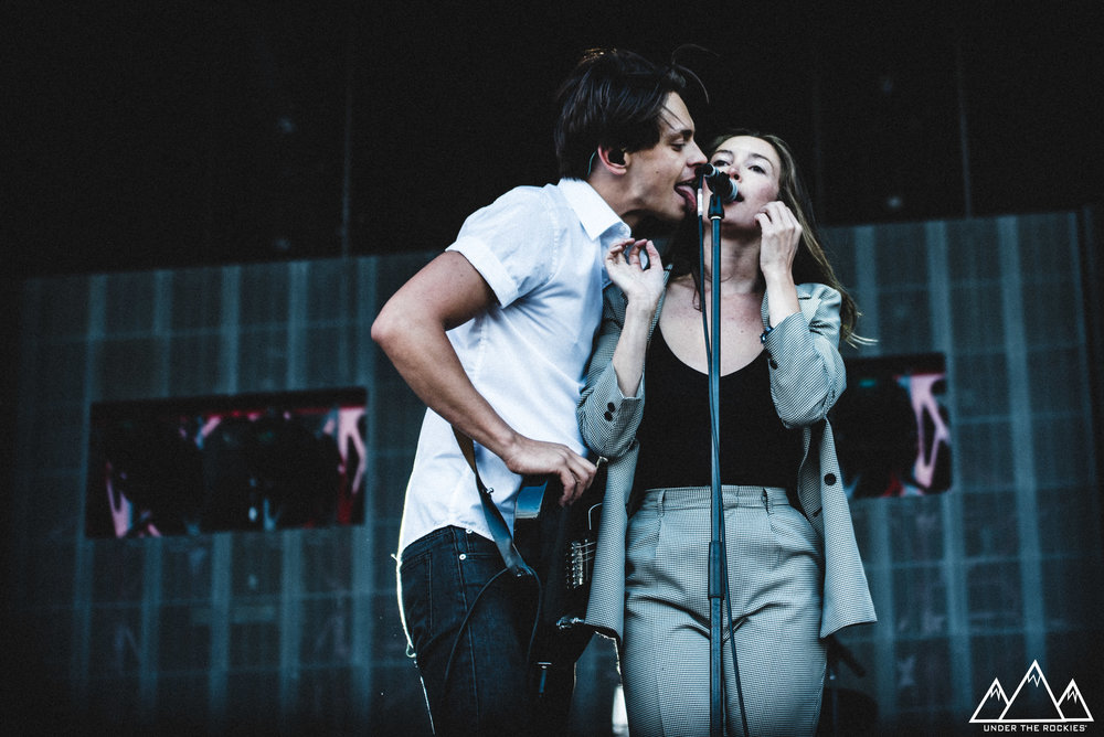 Peter Dreimanis and Leah Fay of July Talk