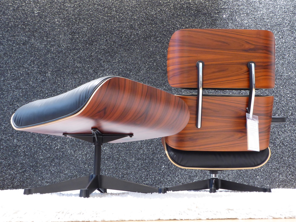 Vitra Eames Lounge Chair XL + Ottomane, Palisander, Top!