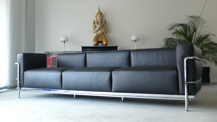 Cassina Le Corbusier Lc3 3 Sitzer Leder Schwarz Top Furniture4life