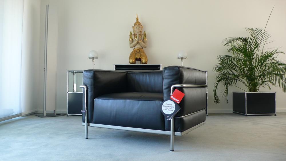 Cassina Le Corbusier Lc3 Sessel Leder Schwarz Top Furniture4life