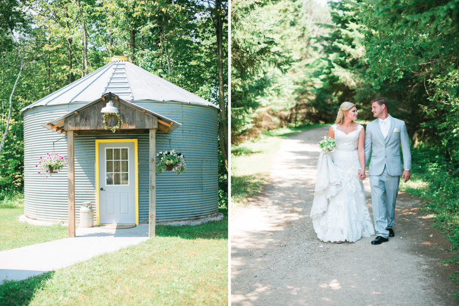 Rustic charming wedding at Echo Valley in Clear Lake, Wisconsin