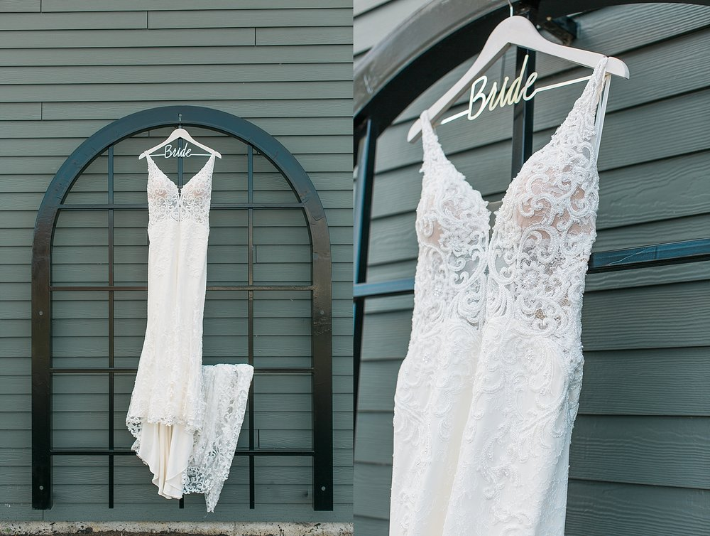 Wedding dress for wedding at the Chart House Summer Wedding Lakeville Minnesota Minneapolis Wedding Photographer Mallory Kiesow