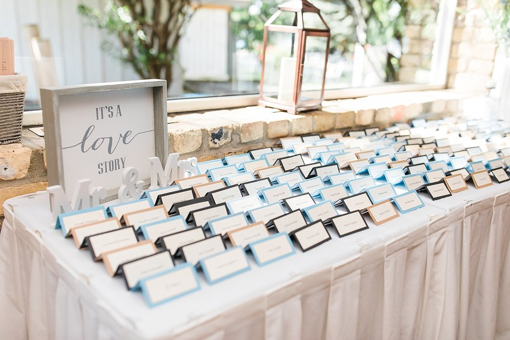 Reception space setup and decor at the Chart House Summer Wedding Lakeville Minnesota Minneapolis Wedding Photographer Mallory Kiesow