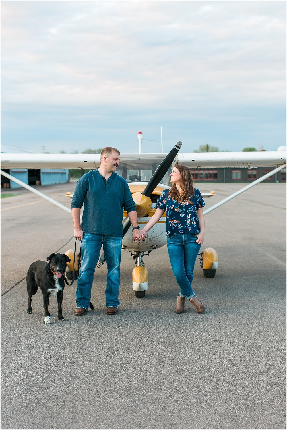 Minneapolis airplane engagement photography session at flying cloud airport in Eden Prairie photographed by Mallory Kiesow Minneapolis engagement and wedding photographer_8.jpg