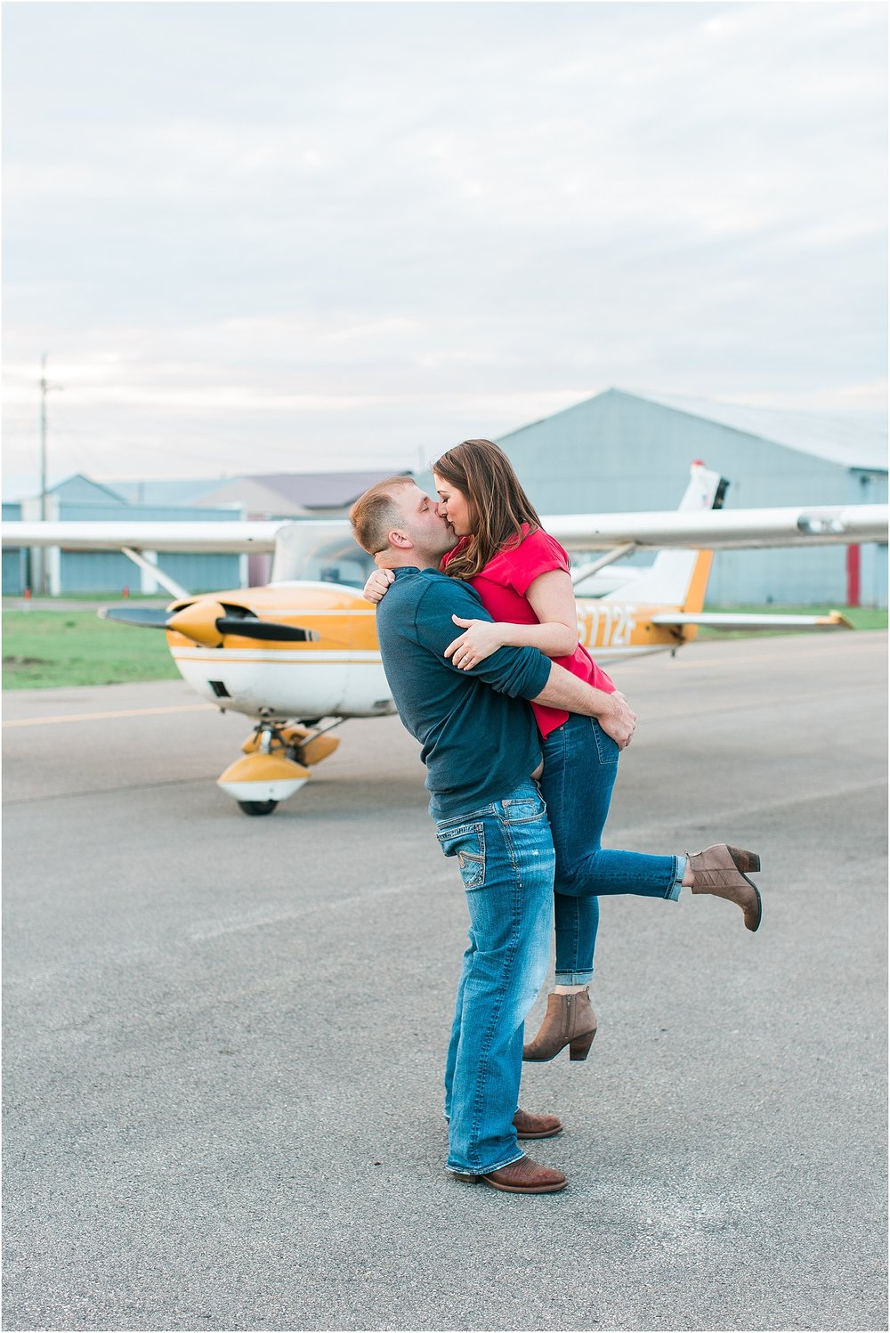 Minneapolis airplane engagement photography session at flying cloud airport in Eden Prairie photographed by Mallory Kiesow Minneapolis engagement and wedding photographer_13.jpg