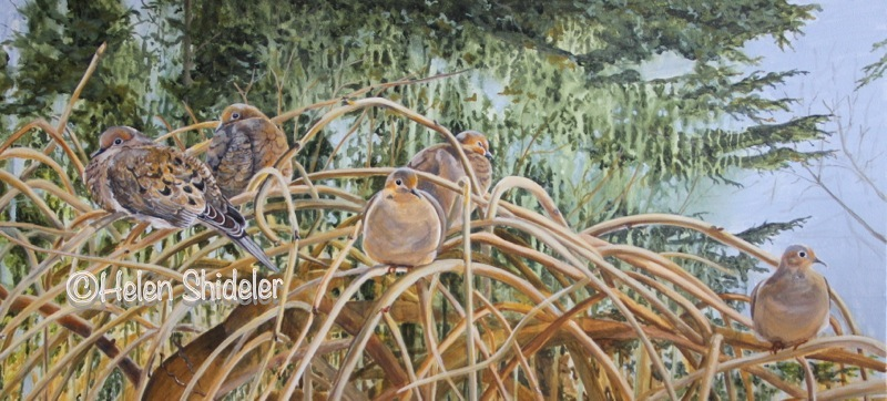 Birds of a Feather - Helen Shideler painting
