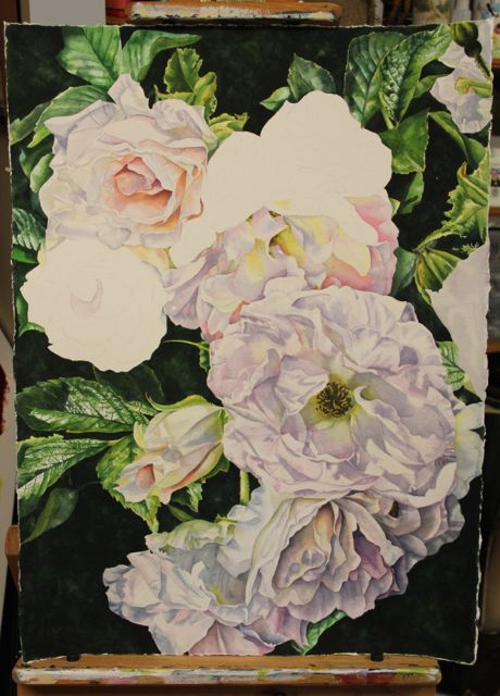 WIP - Helen Shideler Floral Water COlour