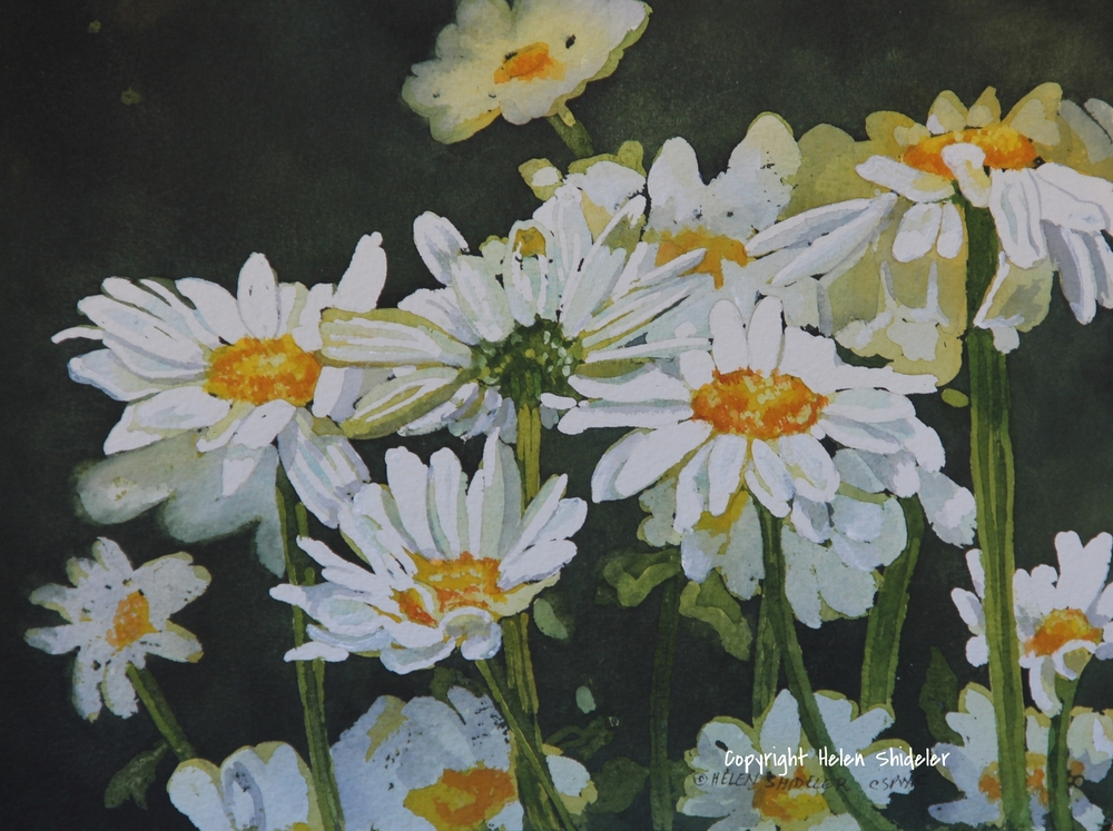 Daisy Days II - Poured Painting