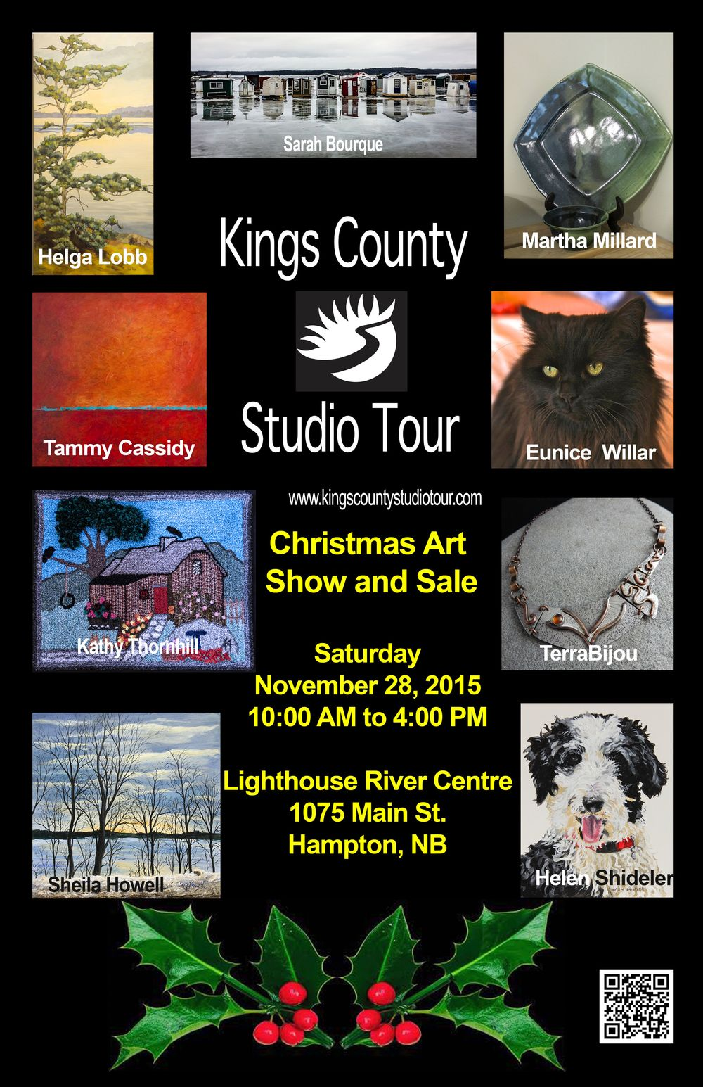 Kings County Studio Tour Christmas Art Show and Sale