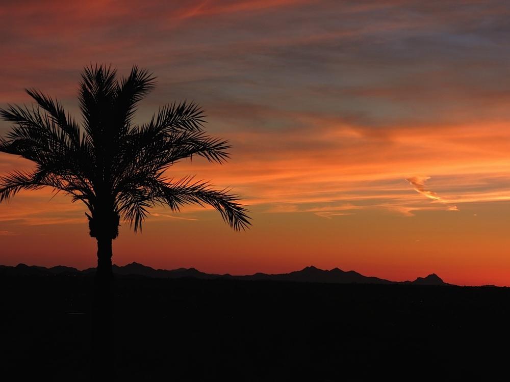 Sunset over Tuscon