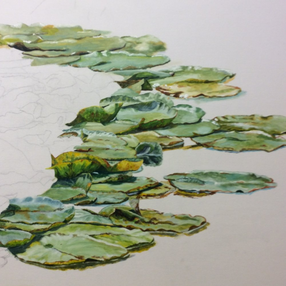 Pond painting by Helen Shideler