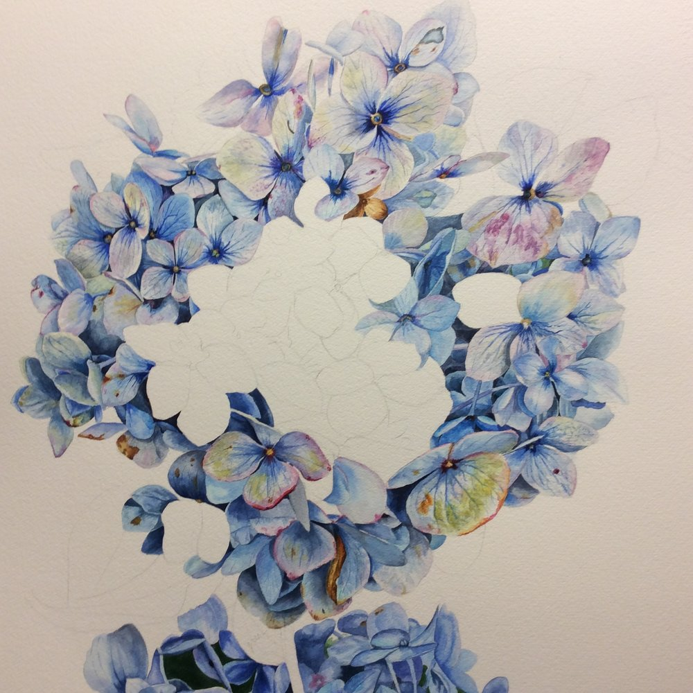 WIP Amethyst Shades of Blue by Helen Shideler