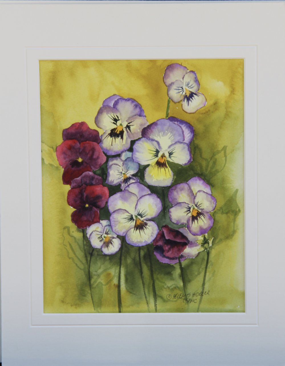 Pansy Patch by Helen Shideler