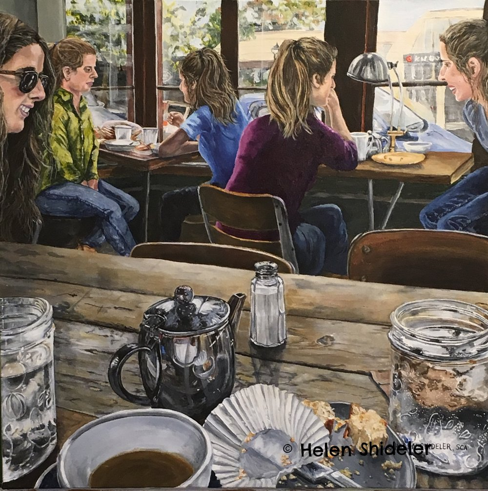 Cafe Conversations by Helen Shideler