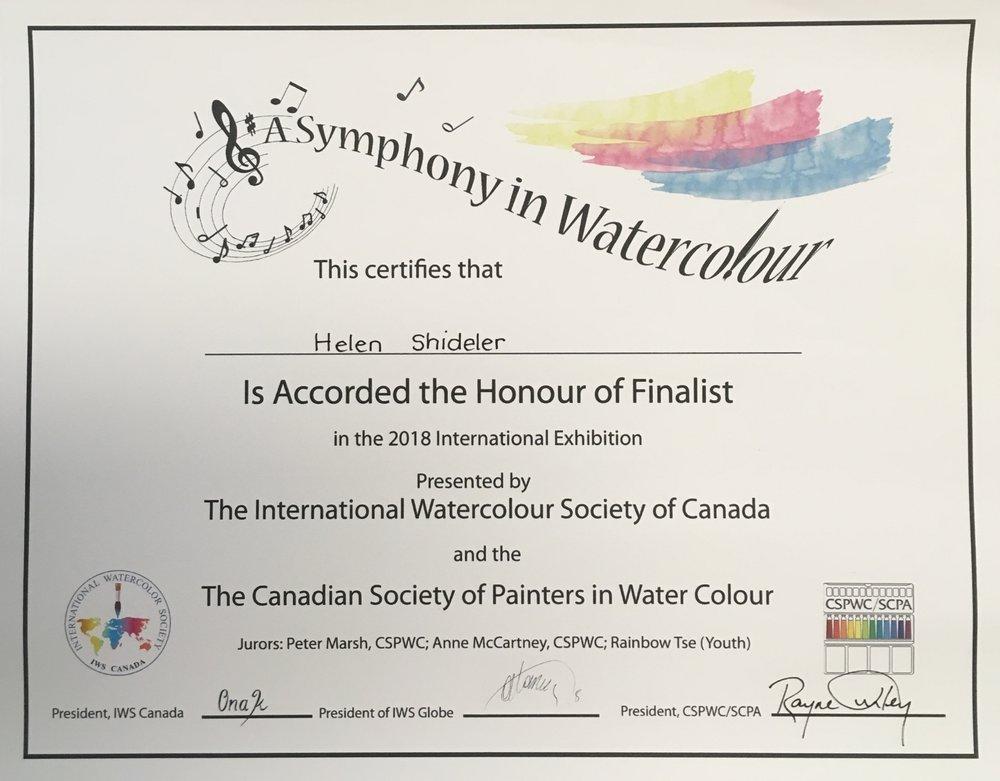 IWS Symphony Finalist Shideler