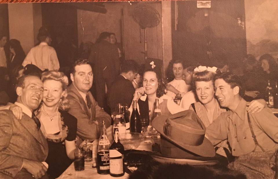 Memories that will never fade, as my Great Grandparents (Bottom right) enjoy a Brew, and laughs.