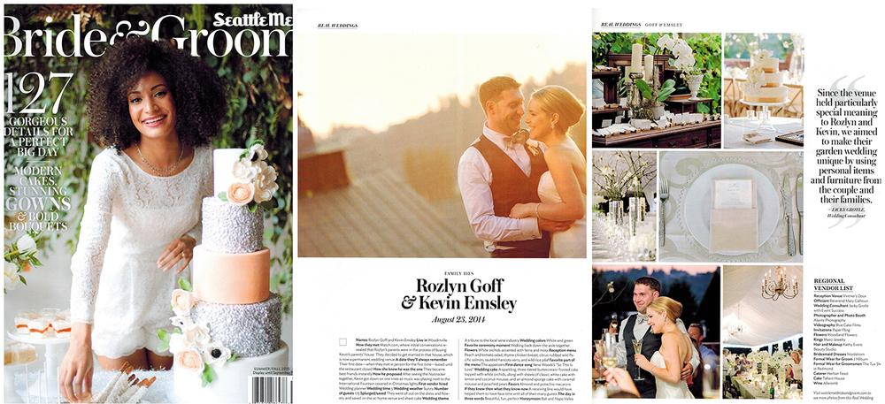 Event Success Featured in Seattle Met Bride & Groom Magazine